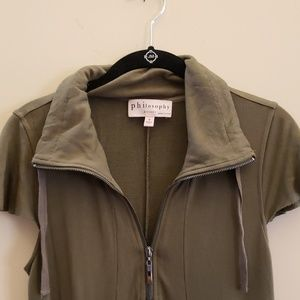 Philosophy  olive green dress Small